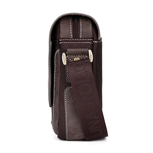VICUNA POLO, Borsa a spalla uomo marrone brown 7.4*8.2*2.7inch