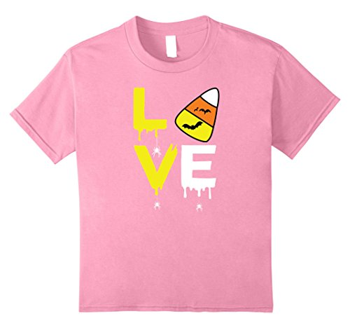 Kids Love Halloween Candy Corn Shirt Bat Spider for Kids Teacher 10 Pink