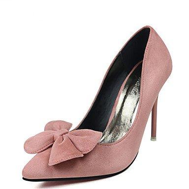 Talones de las mujeres Zapatos Primavera Verano Otoño Invierno Club de cachemira banquete de boda y vestido de noche del tacón de aguja Negro Rojo Gris Rosa Luz Caminar Red