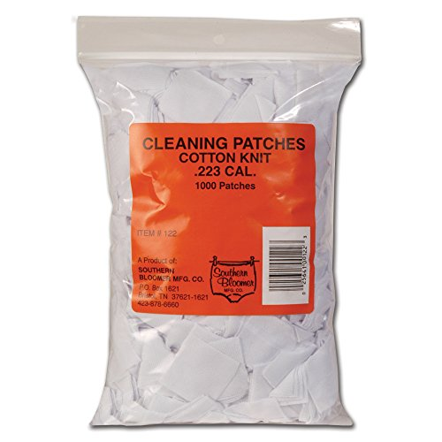 Cotton Southern Patch Bloomer (1000-pack Gun Cleaning Patches, .223 CAL)