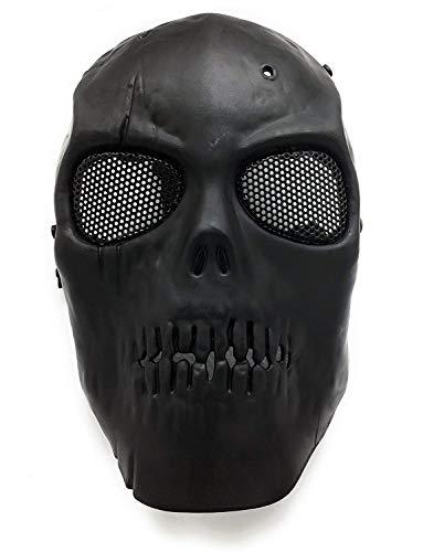 Masque de protection CS Masque de squelette crâne complet Airsoft Paintball de Airsoft Noir 2