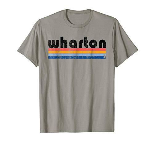 Vintage 80s Style Wharton NJ T-Shirt (Wharton Tshirt)