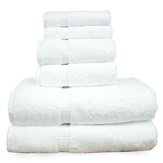 Chakir Turkish Linens Dobby Border Luxury Hotel & Spa Turkish Cotton Bath Bundle (White, 6-Piece Towel Set) (B00JS6G88U) | Amazon price tracker / tracking, Amazon price history charts, Amazon price watches, Amazon price drop alerts