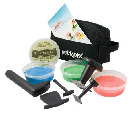 Puttycise174; TheraPutty174; Set, 5 Tools, 4 x 6 oz. Putties, Medium (Yellow, Red, Green, Blue)