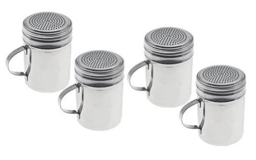Stainless Steel Dredges, Salt, Pepper, Spices, Confectionery Sugar, Etc. With Handle-4'' High, Set of 24 by Update International