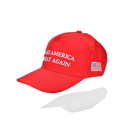 Elegant4beauty Donald Trump Make America Great Again Hats Embroidered ,The 2016 Presidential Election,RED