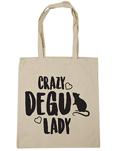 lady Gym degu 10 Tote 42cm Natural litres Bag x38cm HippoWarehouse Crazy Beach Shopping XTEq5fnSxw