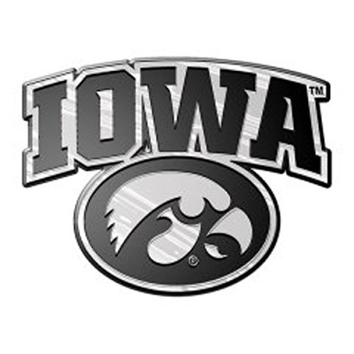 Iowa Hawkeyes NCAA Chrome 3D for Auto Car Truck Emblem Decal Sticker College Officially Licensed Team Logo
