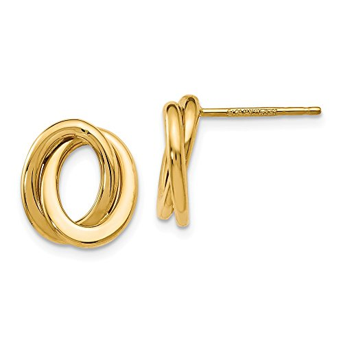 Leslie's 14k Polished Love Knot Earrings by Unknown (Image #1)