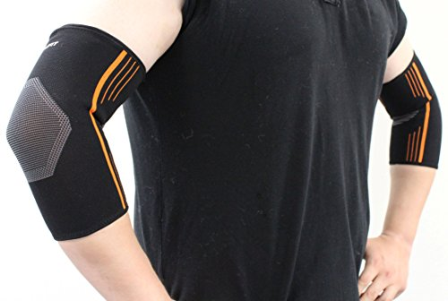 NeoAlly Compression Elbow Sleeve for Tennis Elbow Premium Arm Support Brace for Arthritis Tendonitis Elbow Pain Relief from Tennis Golf Lacrosse and Cricket Elbow ()