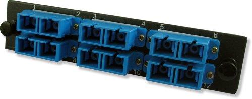 Lynn Electronics 12 Fiber SC Singlemode Adapter Strip, 6 Duplex SC Ports, LGX Footprint