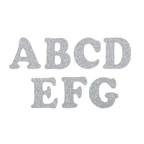 (Darice Chipboard Letters - Silver Glitter - 2 inches - 39 Pieces)