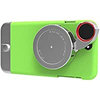 Ztylus Metal Series Camera Kit with Case and 4-in-1 Lens for iPhone 6 Plus - Retail Packaging - Green