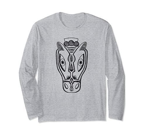 Macho Raton Mask, Latin, Illustration, Art Shirt, Horse Head Long Sleeve T-Shirt