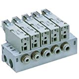 SMC VV3QZ25-0201TC - SMC VV3QZ25-0201TC Bar Stock Pneumatic Manifold, Series Compatibility: VQZ200, Plug Lead Elec. Connect, 2 Stations