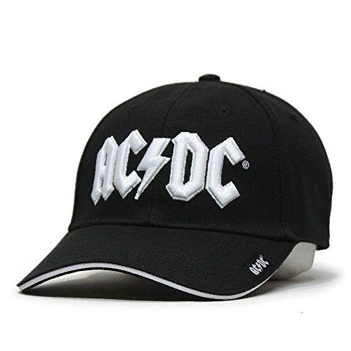 AC/DC Baseball Cap Red On White Hard Rock Band (White) - Dc Mens Baseball Hat