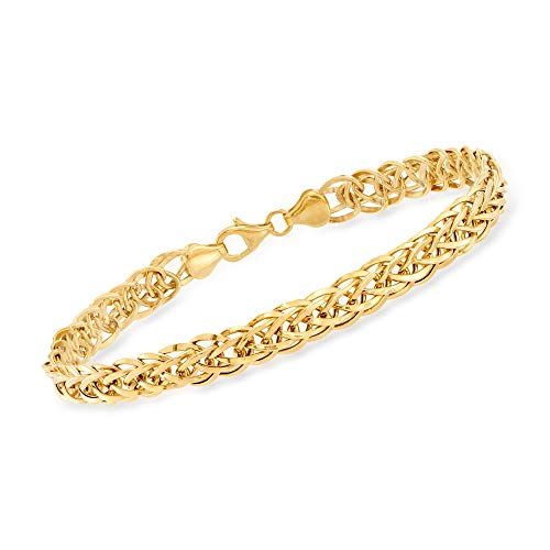 Ross-Simons 14kt Yellow Gold Wheat-Link Bracelet (Gold Bracelets 8 Inch)