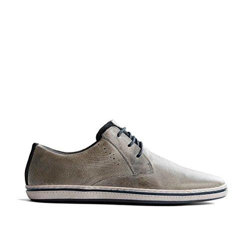 Men 41 EU Herren Herren Leder Hellgrau Sneakers Travelin Schnürhalbschuhe Freizeitschuhe Low Newbury qBfRaB