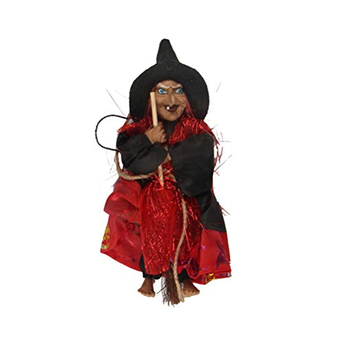 BESTOYARD Halloween Decoration Hanging Witch Horror Hanging Flying Witch Figurine Ornaments Pendant for Patio Lawn Garden Holiday Party
