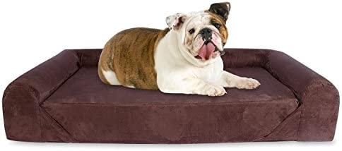 KOPEKS Deluxe Orthopedic Memory Foam Sofa Lounge Dog Bed – Large – Brown