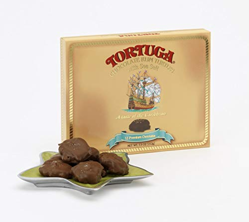 TORTUGA Chocolate Rum Turtles with Sea Salt - The Perfect Premium Gourmet Gift (Chocolate Turtles Candy)
