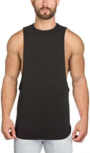 (イーユートレーニングタンクトップ 袖なし ジム用 シャツ スポーツ T-シャツ ブラック M