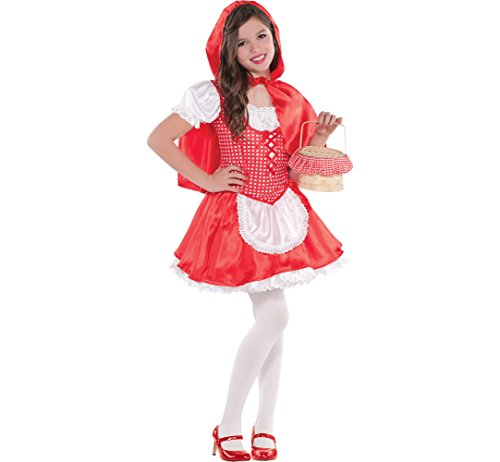 AMSCAN Classic Red Riding Hood Halloween Costume for Girls, Small, with Included Accessories ()
