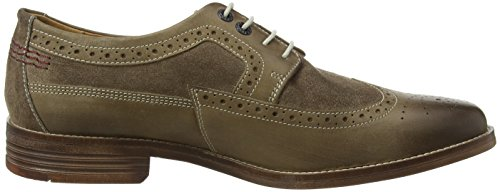 Hush Puppies HM01527-201, Zapatos Brogue Hombre Marrón (Dark Taupe Leather)