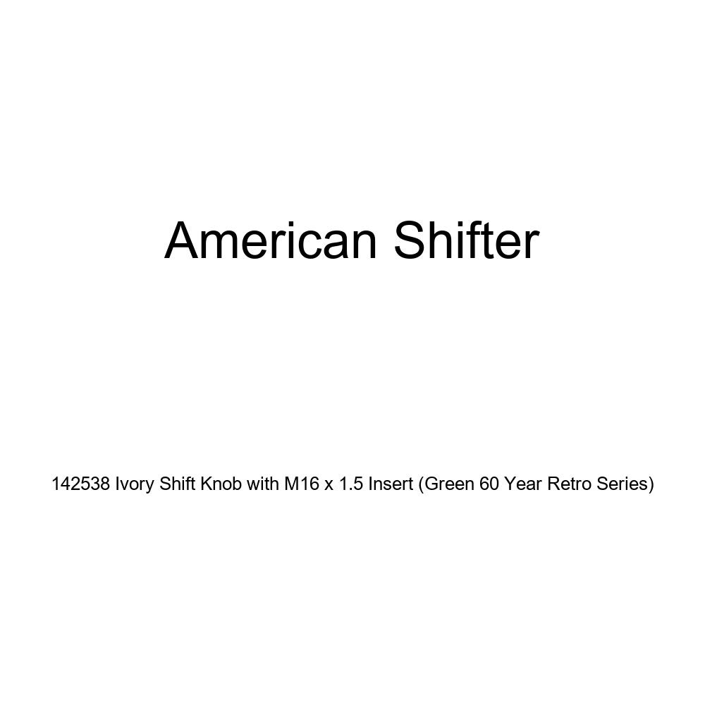 American Shifter 142538 Ivory Shift Knob with M16 x 1.5 Insert Green 60 Year Retro Series