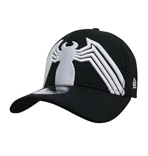 Spider-Man Black Costume Armor 39Thirty Fitted Hat- Small/Medium (Venom Black Spider Man Costume)