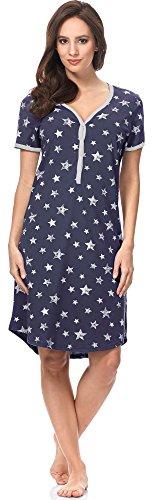 da Italian Camicia Donna Scuro Allattamento Blu 7492T1 0114 Notte IF Fashion wqq4UA