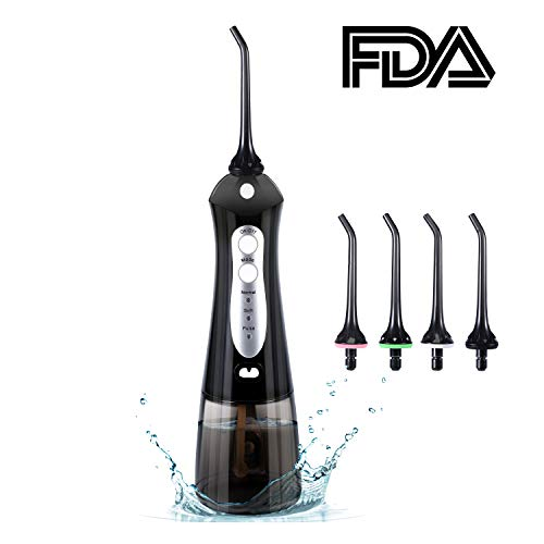 Cordless Water Flosser,Portable & Rechargeable IPX7 Waterproof Dental Flosser with 3 Modes, Hydro Floss Oral Irrigator with Cleanable Water Tank for Home and Travel, Braces & Bridges - Clean Be Oral Dual