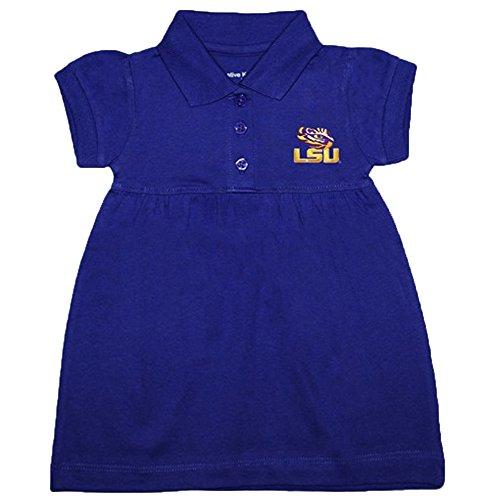 LSU Tigers NCAA Newborn Baby Two Piece Dress W/ Bloomer (0-3 Months )