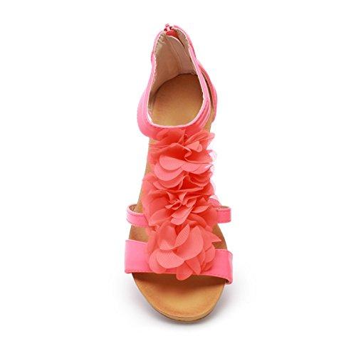 La Modeuse-Sandalias de piel sintética Rojo - rojo