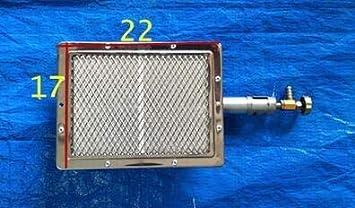 闪电 Top Barbecue qualit/à Barbecue infrarossi bruciatore ceramico ceramiche Acciaio bruciatore a Gas Piatto alumunium Acciaio bruciatore a infrarossi con ugello Colore : 22x17cm