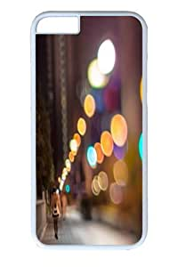 iphone 6 Case and Cover -City Lights Polycarbonate Hard Case Back Cover for iphone 6 4.7 inch White