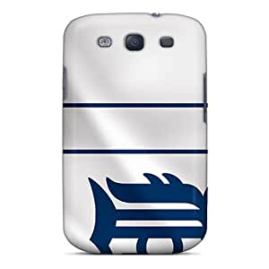 Hot BFr12350BQWE Detroit Tigers Tpu Cases Covers Compatible With Galaxy S3