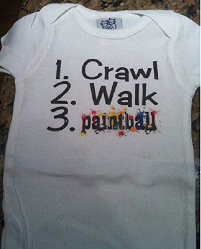 crawl walk paintball baby bodysuit future paintballer infant one piece