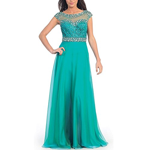 Abaowedding-Womens-Green-Crystal-Cap-Sleeves-Plus-Size-Long-Prom-Dresses