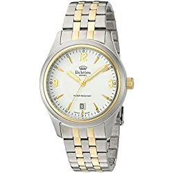 Richelieu Men's Swiss Quartz Stainless Steel Dress Watch, Color:Two Tone (Model: MRI9820707911)