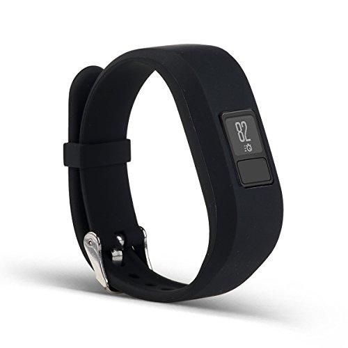 AUTRUN Band For Garmin Vivofit 3 and Garmin Vivofit JR,12 Color Styles Fitness Silicon Bracelet Strap Replacement Bands for Garmin Vivofit 3 and Vivofit JR(No Tracker (Style A:01 Black)