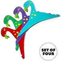Set of FOUR 12'' 8'' Hangers 4 Kids, Jurassic Closet...