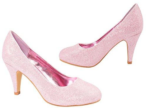paillettes fête soirée Classique bonbon strass Femmes rose Chaussures Escarpins TqwqxPZnE