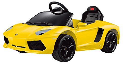 Vroom Rider Lamborghini Aventador LP700-4 Rastar 6V Battery Operated/Remote Controlled Ride-On, Yellow