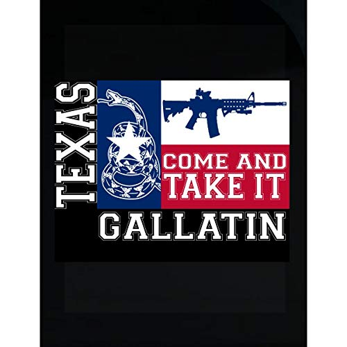 KewlCover Gallatin Texas Come and Take It Ar15 - Transparent Sticker