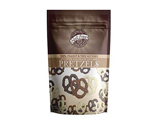 Vermont Nut Free Chocolates Covered Mini Twist Pretzels (Assorted) 7 oz Chocolate Covered Pretzel Twists