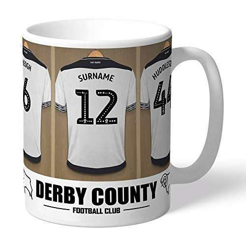 FREE PERSONALISATION Content Gateway Official Personalised Derby County Dressing Room Mug