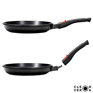 Cleverona Essential Nonstick Fry Pan with SecureSnap Detachable Handle