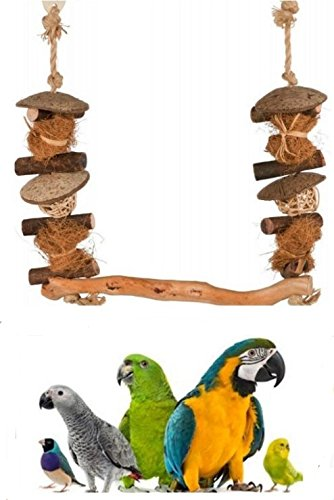 Trixie Jaula pájaro Madera Natural Coco & Mimbre Columpio Loros ...