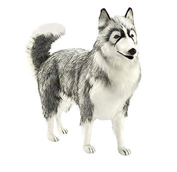 Peluche husky gris 70 cm